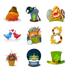 Holidays symbols vector image vector image
