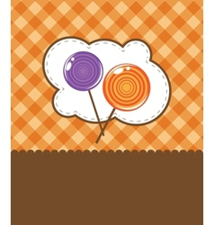Lollipop candy isolated against background vector image