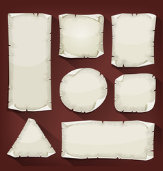 Old torn paper set vector