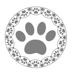paw print dog icon vector image vector image