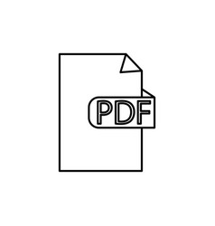 pdf format document icon vector image vector image