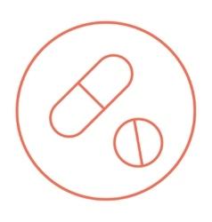 Pills line icon vector