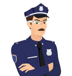 Policeman wearing smartglasses vector image