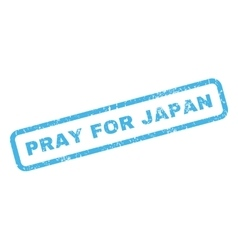 Pray for japan rubber stamp vector
