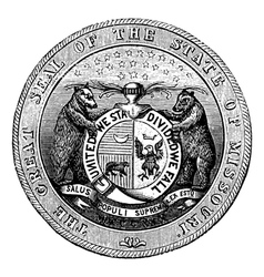 Seal of the State of Missouri vintage engraving vector image