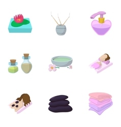 Skin care icons set cartoon style vector image vector image