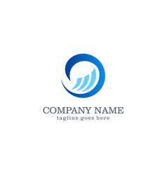 Wave water logo design vector