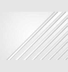 White geometric technology stripes background vector