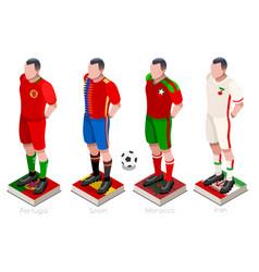 World cup soccer team vector