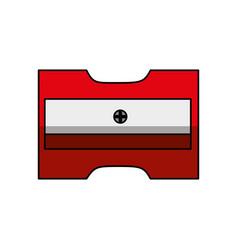 Sharpener school supply icon vector