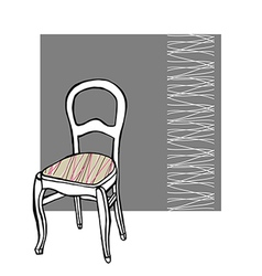 Upholstered chair vector