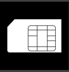 Sim card the white color icon vector