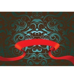 Abstract Pattern with banner vector image