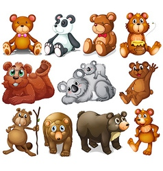 Huggable teddy bears vector