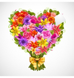 Heart shaped posy vector