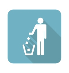 Square recycling icon vector