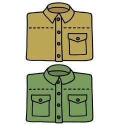 Sand and green shirts vector