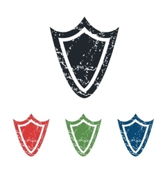 Shield grunge icon set vector