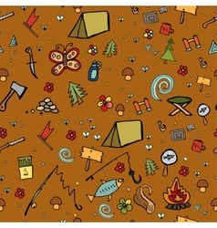 Camping - doodles collection hand drawn camping vector