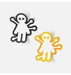 Realistic design element voodoo doll vector