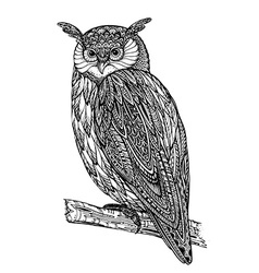 Wild totem animal - owl vector