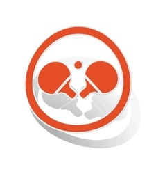 Table tennis sign sticker orange vector