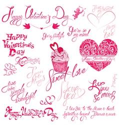 valentine day calligr 5 380 vector image
