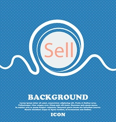 Sell sign icon contributor earnings button blue vector
