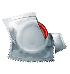 A red condom vector