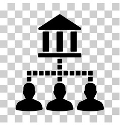Bank clients icon vector