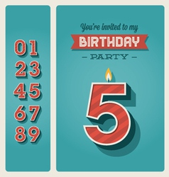birthday card invitation editable vector image vector image