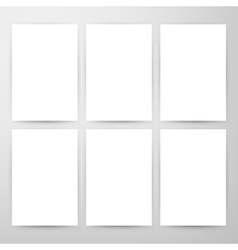 Blank Posters Mockup Template vector image vector image