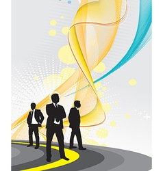 businessman on the road vector image vector image