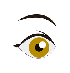 Cartoon eye look eyebrow human image vector