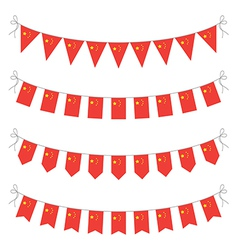 chinese bunting vector image vector image