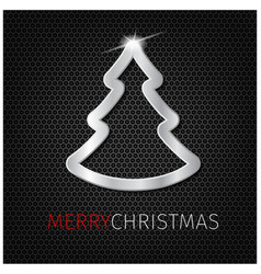 christmas tree on background vector image