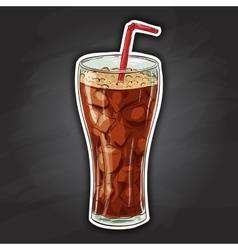Coca cola color picture sticker vector