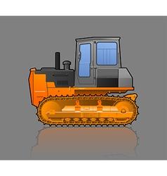 Crawler tractor vector
