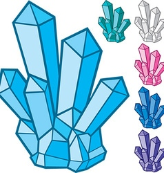 Crystal Collection vector image