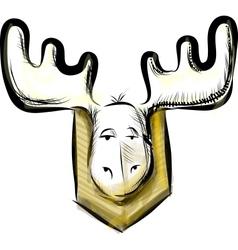 Deer head sketch vector image