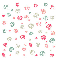 Doodle curl seamless pattern vector