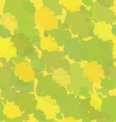 Green-yellow seamless with oak leaves vector