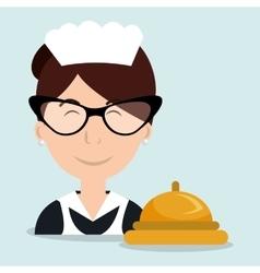Housekeeper woman maid hotel vector