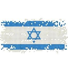 Israeli grunge tile flag vector image