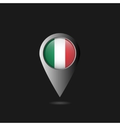 Italy flag pointer vector