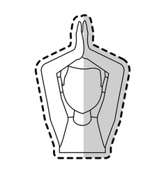 man doing yoga yogi icon image vector image