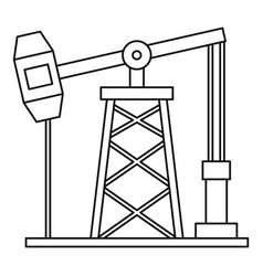 oil pump icon outline style vector image
