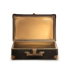 Old suitcase vector image vector image