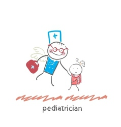 pediatrician flies to a sick child vector image vector image
