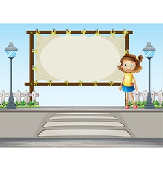 Road Crossing Signboard vector image vector image